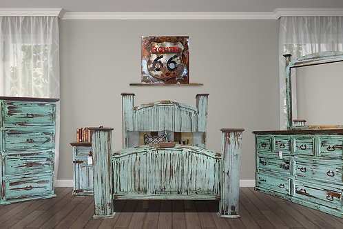 Mansion Turquoise Queen Bedroom Group