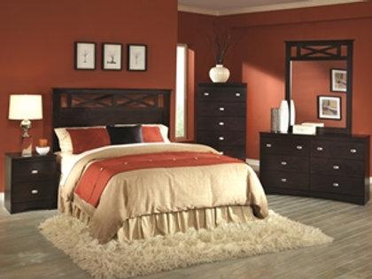 Tyler Mahogany Full/Queen Bedroom Group
