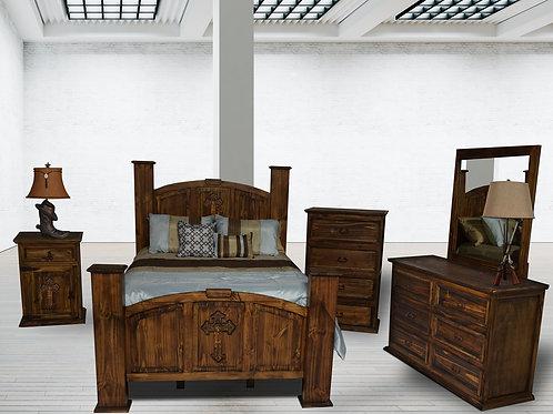 Mansion Antique W/Cross Queen Bedroom Group