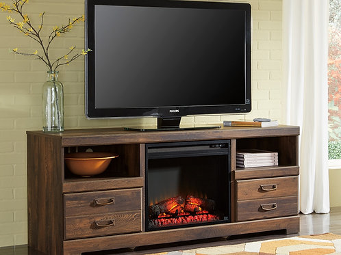 Quinden Media Stand W/Fireplace