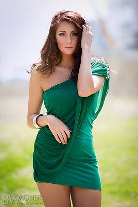 Green Dress Print