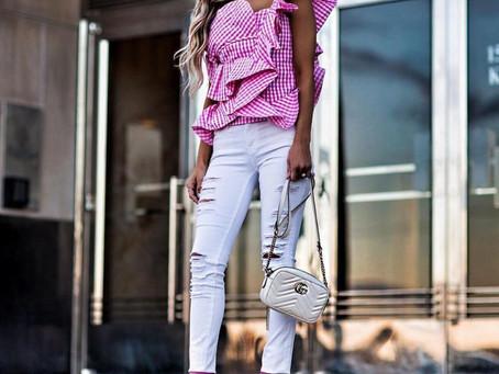 Blogger Inspo White Denim