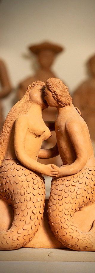Red Clay Figures