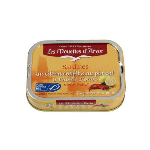 Les Mouettes d'Arvor Sardines with Lemon and Pepper