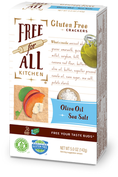 Free For All Kitchen GF Olive Oil & Sea Salt Crackers