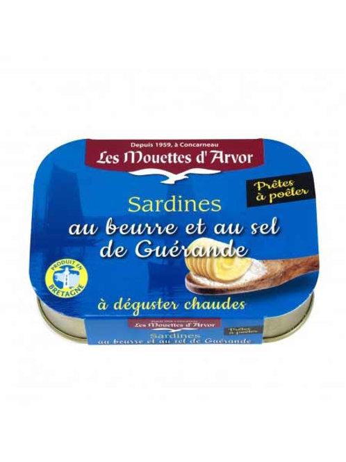 Les Mouettes d'Arvor Sardines in butter and Guérande salt