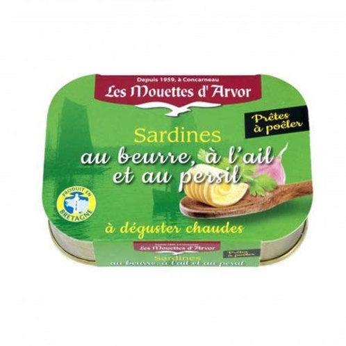 Les Mouettes d'Arvor Sardines in Butter & Garlic