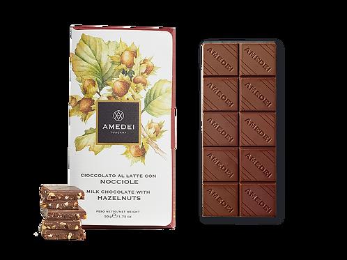 Amedei Milk Chocolate with Hazelnuts