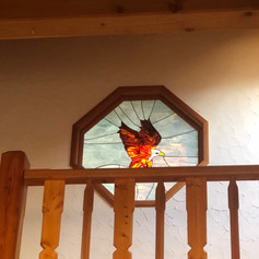beautiful sunburst Eagle in