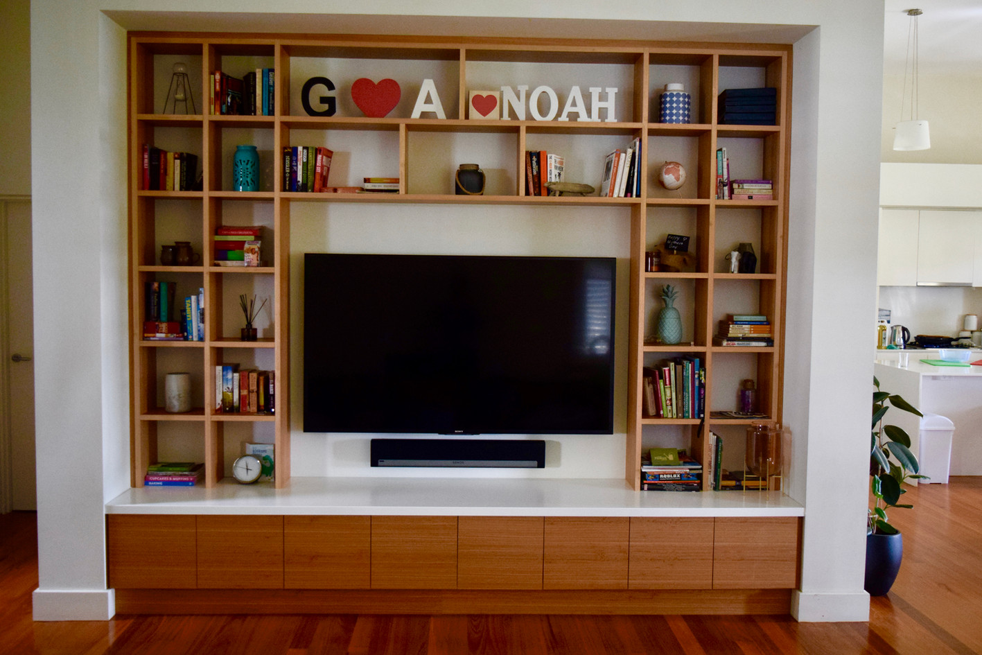 Custom Bookcase and Media Unit Inner West