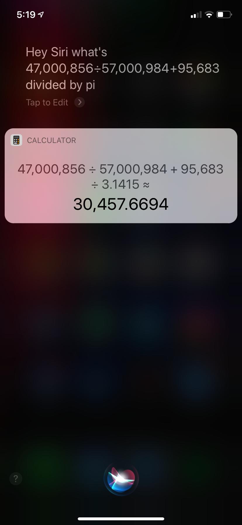 Siri math