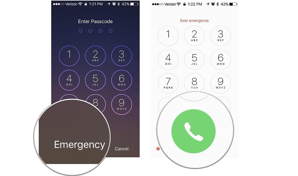 iPhone emergency mode