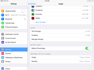iPad battery usage vancouver