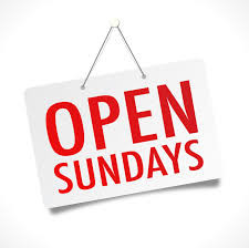 open sunday sign