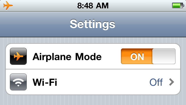 Airplane mode iPhone Vancouver
