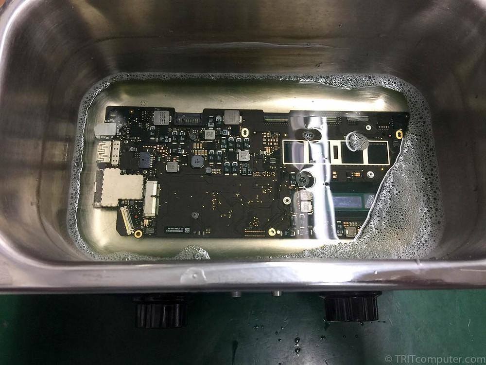 cleaning MacBook motherboard