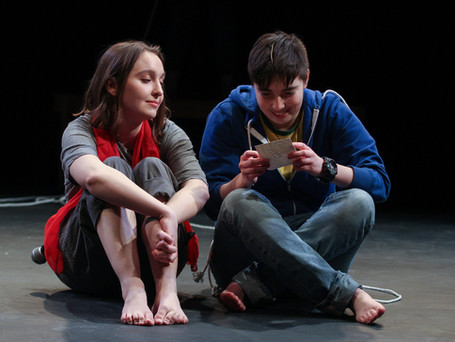"""Sheridan played the role of Partner in """"Retrograde"""", a musical by Sav Souza and Sarah Flaim featured in the Polyphone Festival of New and Emerging Musicals. Directed by Amy Smith. Photo by Paola Nogueras."""
