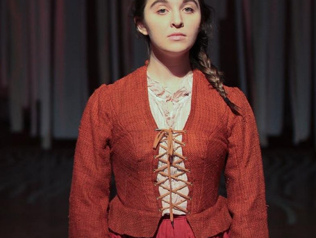 """""""Sarah Flood in Salem Mass,"""" a new play by Adriano Shaplin, produced by The Headlong Theater Company and The University of the Arts. Directed by Amy Smith. Photo by Paola Nogueras."""