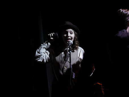 """Sheridan played Joey Biltmore in UArts' production of """"Guys and Dolls"""", directed by Andrew Neisler. Photo by Paola Nogueras."""