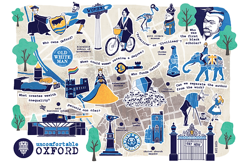 Uncomfortable Oxford Map - A3 Poster