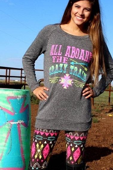 Plus Size black/pink aztec leggings