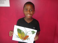 DiJohn made arts & crafts today.