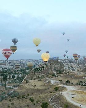 Aug 2013 #hotairballoon #sunrise #cloudy