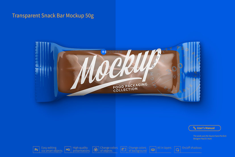 Transparent Snack Bar Mockup