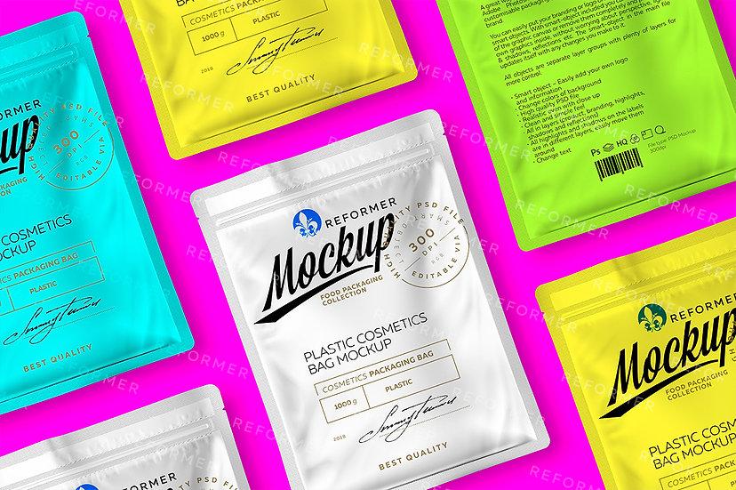 Plastic Cosmetics Bag 2 Mock-ups Files