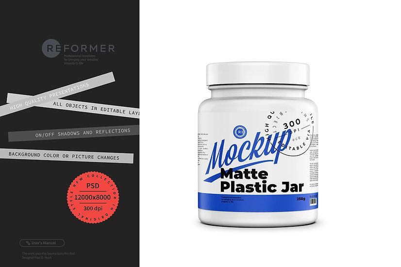 Matte Protein Jar Mockup 250g