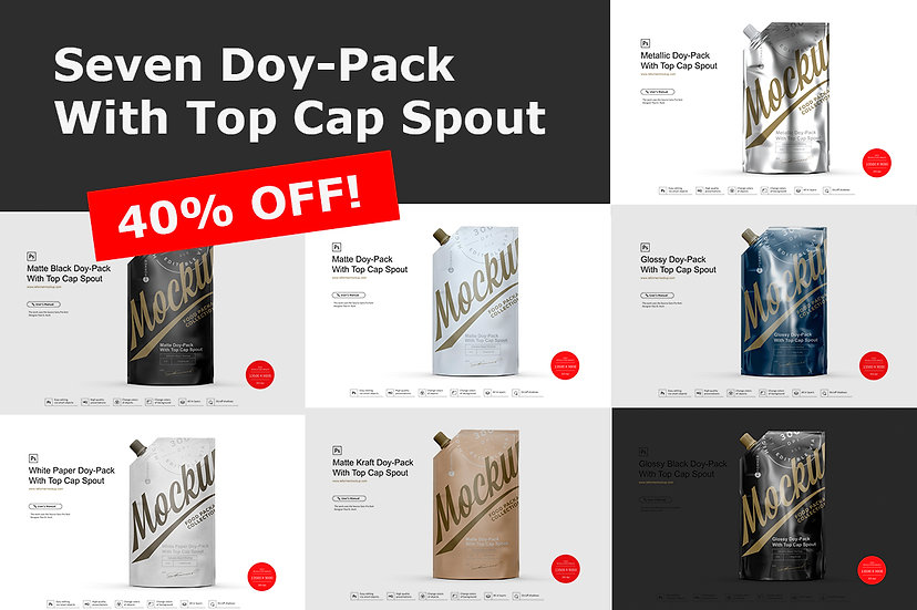 Seven Doy-Pack With Top Cap Spout