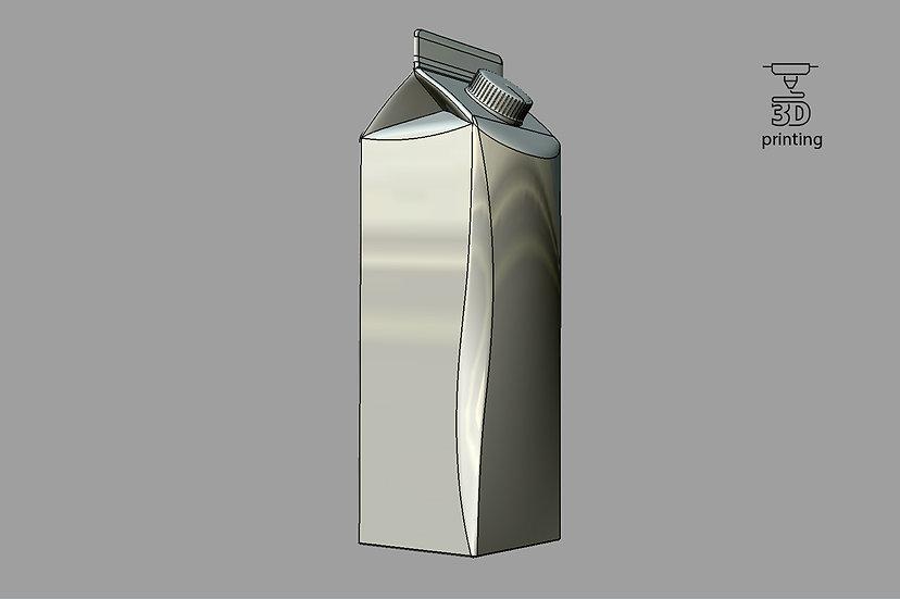3d Model of Elopak Pure-pak Diamond-curve 1000ml
