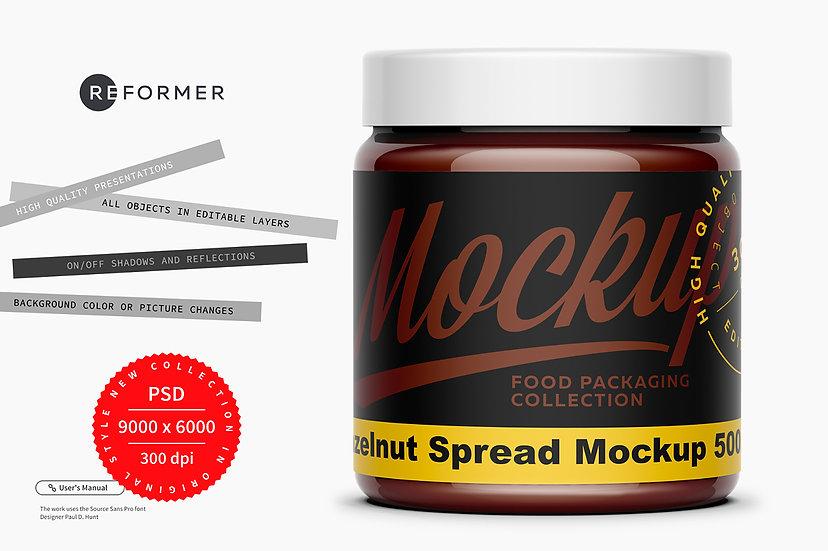 Hazelnut Spread Mockup 500ml