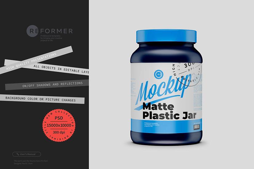 Matte Plastic Jar Mockup 3L
