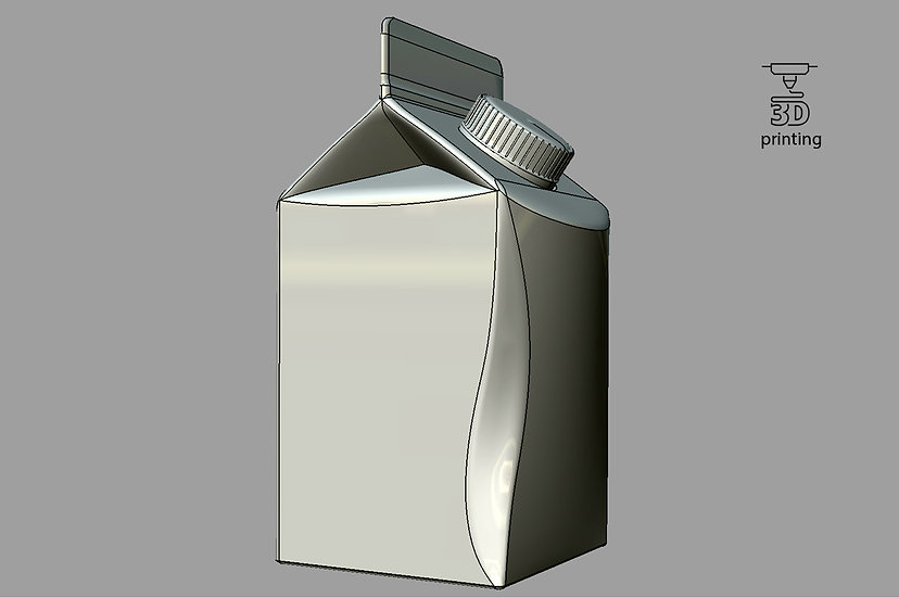 3d Model of Elopak Pure-pak Diamond-curve 500ml