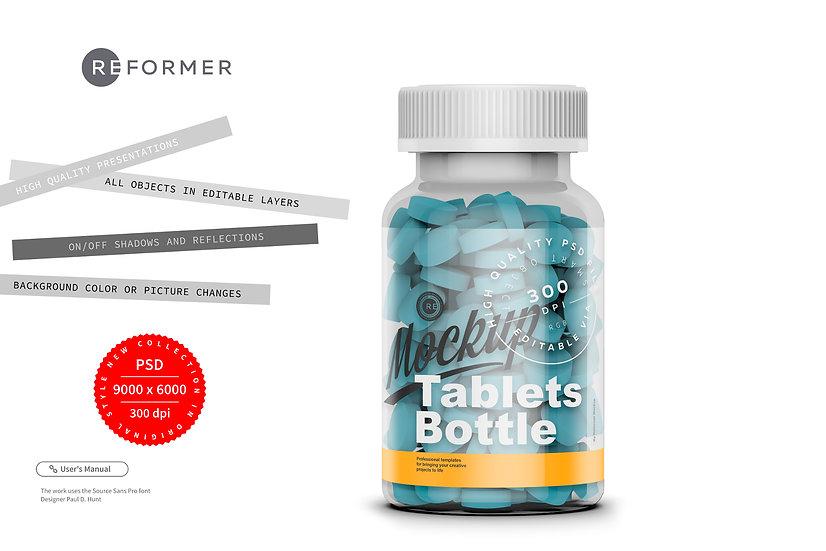 Tablets Bottle Mockup