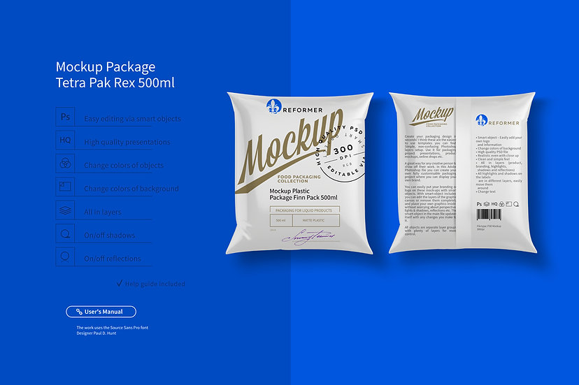 Mockup Package Finn Pack 500ml