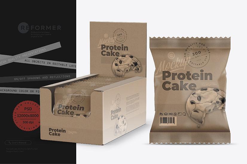 Kraft Protein Cake Snack Bar Mockup