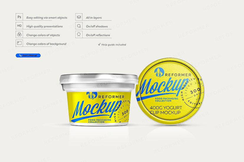 Yogurt Cup Mockup 200g