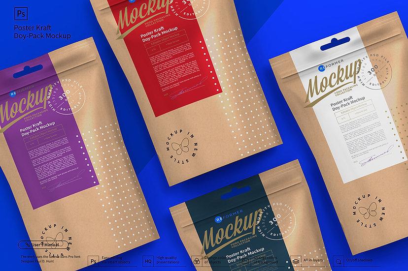 Poster Kraft Doy-Pack Mockup