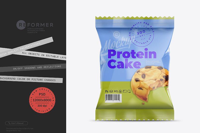 Protein Cake Snack Bar Mockup