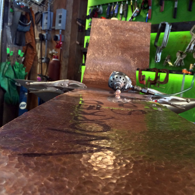 Peening a Large Sheet of Copper