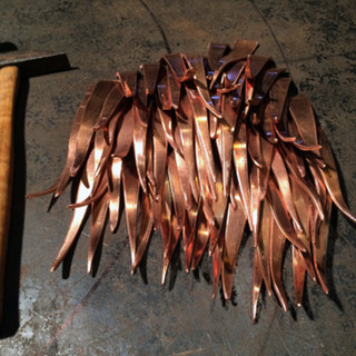 Copper Feathers Texture