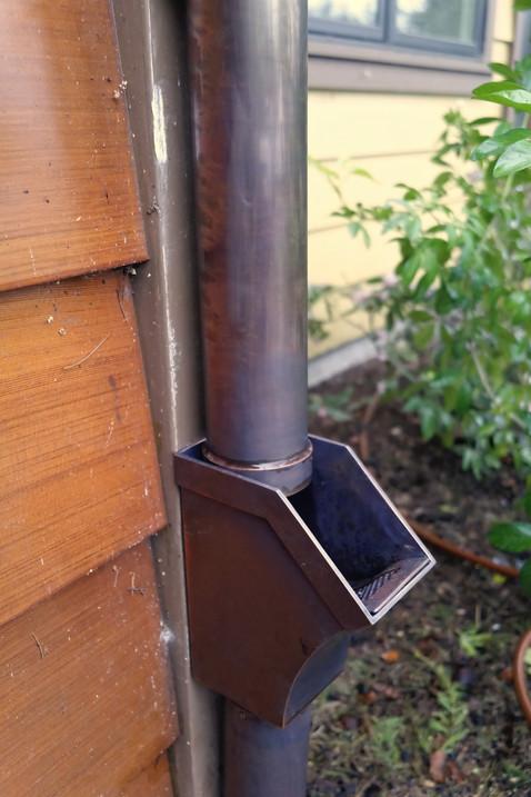 Copper Leaf-Catch Box with Screen