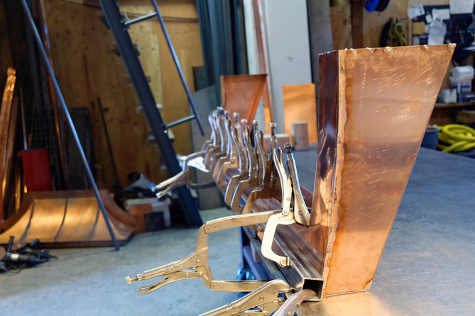 Fabrication of Copper Awning