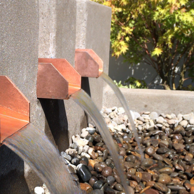 Copper Water Feature for an Entryway Fountain