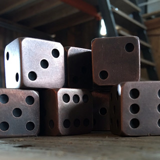 Copper Dice ~ 1 Inch x 1 Inch
