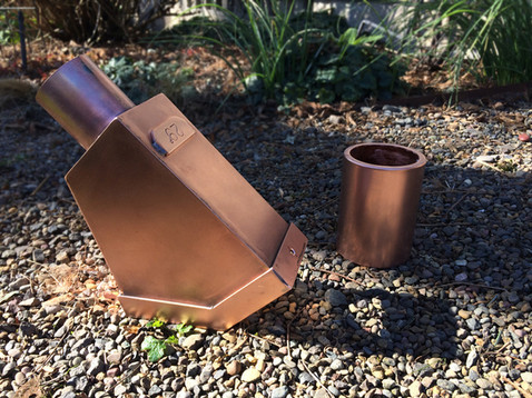 Copper Leaf-Catch Box and Inlet Cover