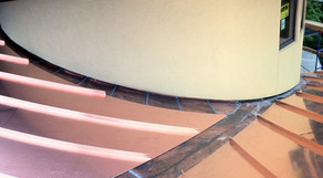 Copper Roof Panels and Flashing for a Radius Valley