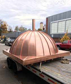 Dome Roof with Copper Panels in Transport